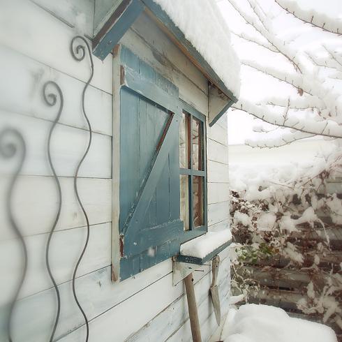 お庭スタジオの雪景色