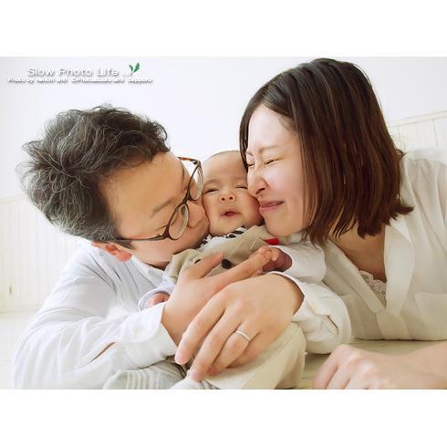 りんくんの家族写真むぎゅ