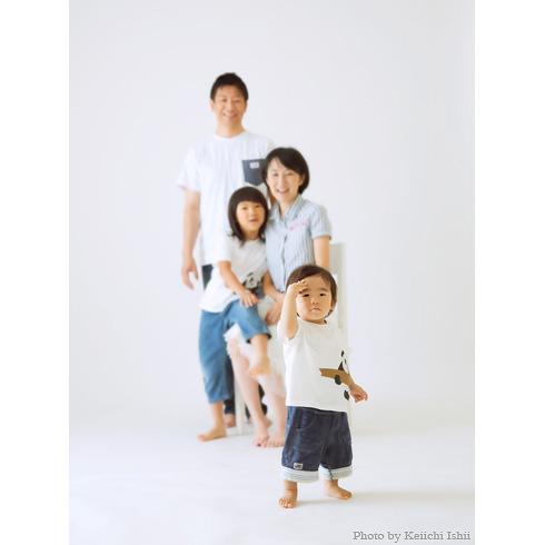 自然光の家族写真