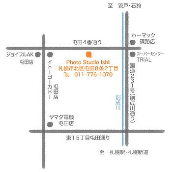 札幌市の石井写真館の地図