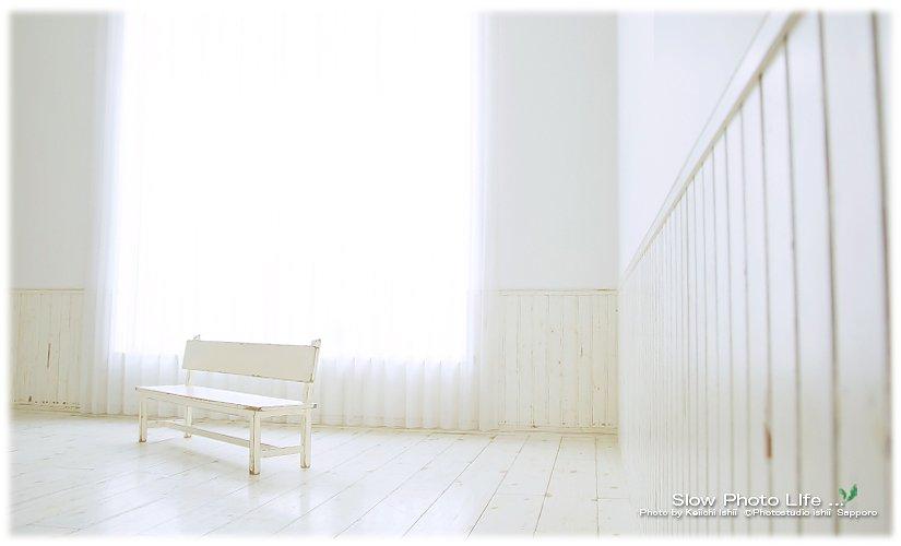 フォトスタジオ石井のベンチ