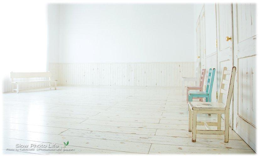 石井写真館の広いスタジオ