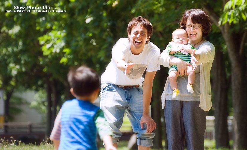 札幌の子供写真館のロケーションフォト